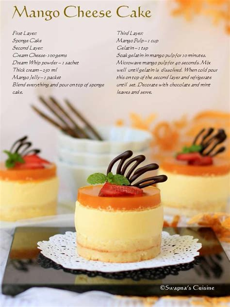 mango cheese cake recipe cupcakes cakes sweets