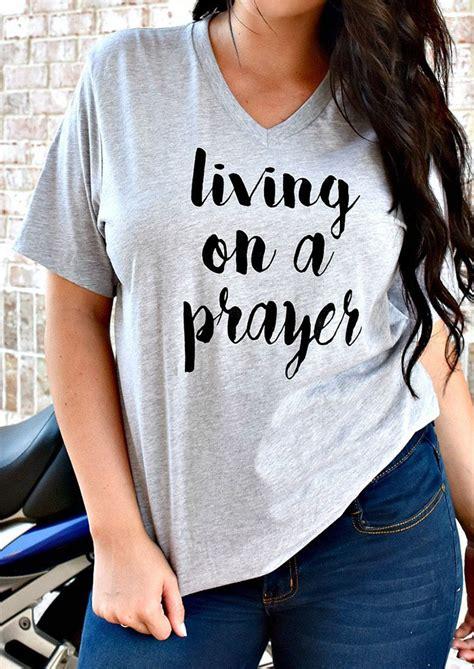 living   prayer  shirt  necklace fairyseason