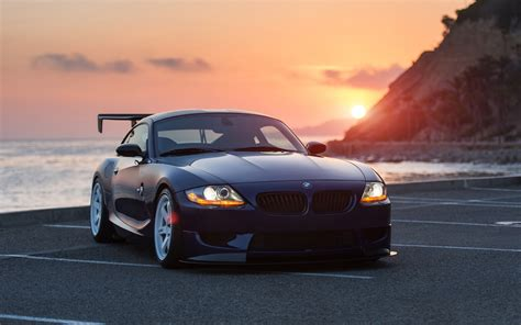 Car Sunset Wallpaper by Bmw Z4 Black Car At Sunset Wallpaper Cars Wallpaper Better