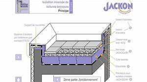 jackodur toiture inversee principe de construction youtube With toiture terrasse isolation inversee