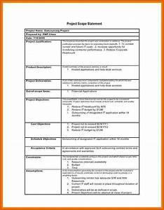 project scope statement example apa examples With sample scope document template