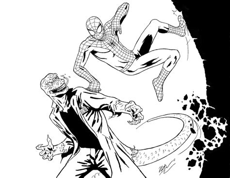 marvel  spectacular spider man coloring pages