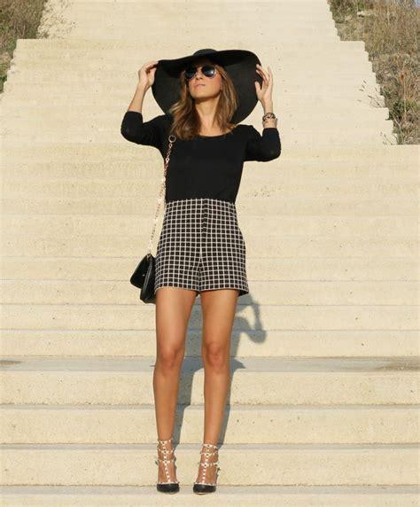Shorts de tiro alto de cuadros - Look and Chic