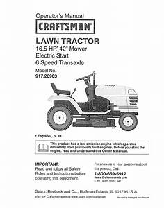 Craftsman Lawn Mower 917 289031 User Guide