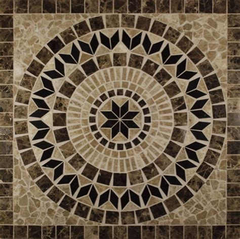Helios 36 x 36 Square Marble Medallion. Glass, Tile, Home