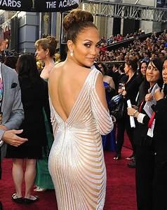 A, Back, Shot, Of, Jennifer, Lopez, U0026, 39, S, Revealing, Gown