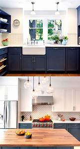 25 great ideas about navy kitchen cabinets on pinterest With kitchen colors with white cabinets with chanel wall art canvas