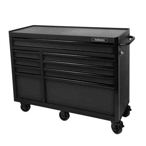 husky tool storage cabinets husky 52 in 9 drawer tool cabinet textured black h52tr9