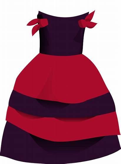 Clipart Clip Pink Frock Cliparts Dressing Dresses