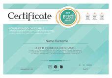 certificate diploma template award pattern stock photo