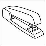 Stapler Clipart Clip Abcteach Cliparts sketch template