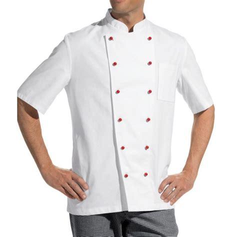 vestes cuisine veste de cuisine manches courtes 100 coton sergé fin