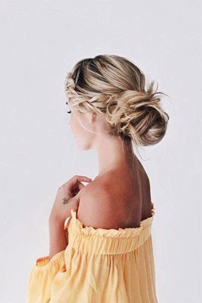 summer hairstyle bun updo ideas  girls women