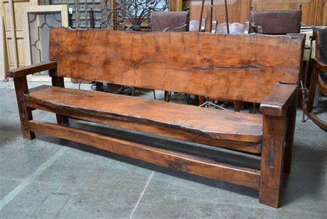 bench with back home wood furniture banca tablon rustic outdoor benches demejico Rustic