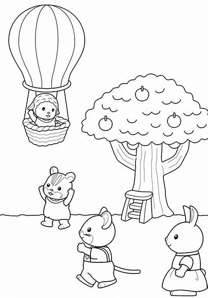 Calico Critters Coloring Pages Sylvanian