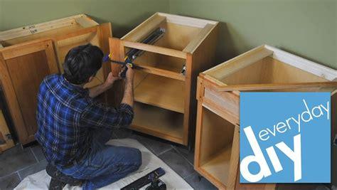 install kitchen cabinets buildipedia diy youtube