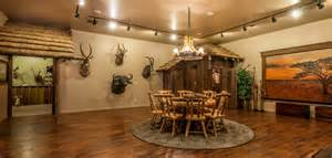 African Safari Themed Living Room by African Safari Game Room Amp Hunting Fishing Trophy Room