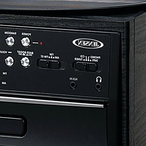 Jensen 3-Speed Stereo Turntable with CD System, Cassette