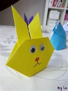 Origami Animaux Facile Gratuit : deux id es de pliage de papier origami pour p ques ~ Dode.kayakingforconservation.com Idées de Décoration