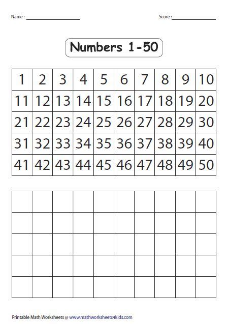 fill   blank number chart     images
