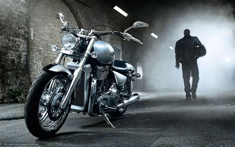 Download Wallpaper Triumph, Cruiser, Thunderbird, 2010