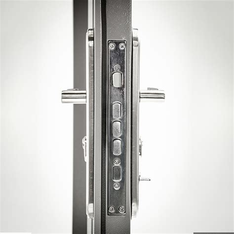 steel security door  multi point locking system single standard duty steel doors
