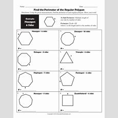 Find The Perimeter Of The Regular Polygon Worksheet For 4th  6th Grade  Lesson Planet