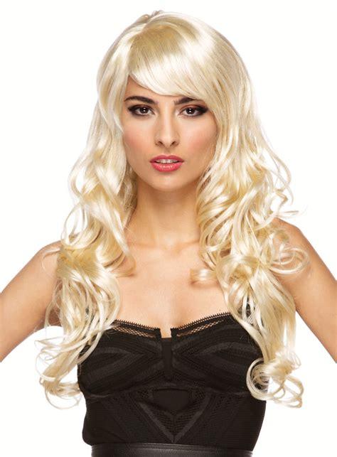 long blonde melrose wig  bangs