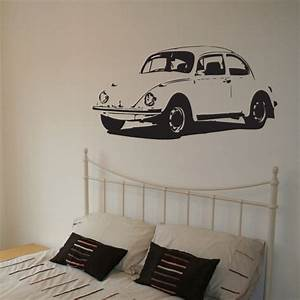 Vintage car vinyl wall decal