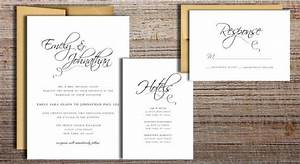 flourished script wedding invitation suite printable With wedding invitation suite cost