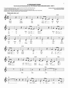 A Thousand Years chords by Christina Perri (Melody Line ...
