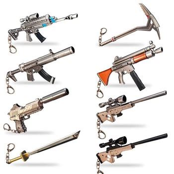 fortnite games action figures keychain scar pickaxe boogie