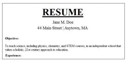 buzzwords for a resume search