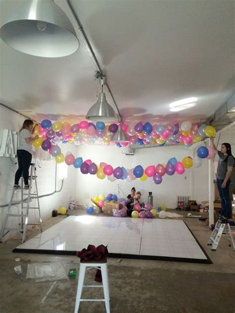 How To Make A Balloon Ceiling  Xv Ideas Pinterest