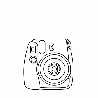 Polaroid Instax Camera Clipart Drawing Draw Easy