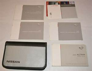 2008 Nissan Altima Owners Manual Guide Book Set With Case
