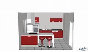 idee amenagement cuisine semi ouverte maison design With idee amenagement cuisine semi ouverte