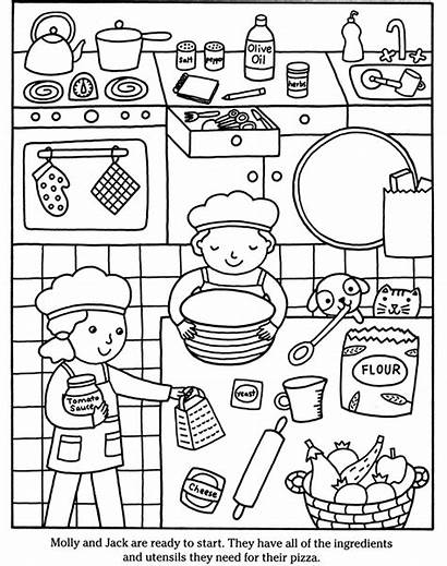 Coloring Pizza Pages Cooking Cook Printable Sheets