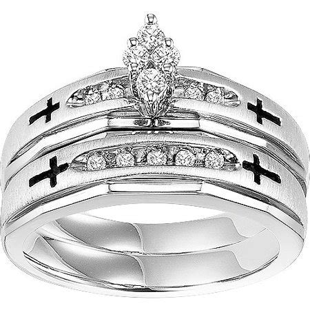 forever 1 5 carat t w sterling silver cross bridal walmart