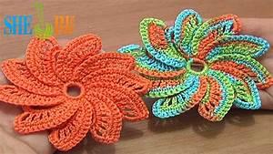 Sheruknitting  Spiral Flower Tutorial 55