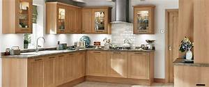 belfort chene clair o houdan cuisines With deco cuisine avec buffet chene clair