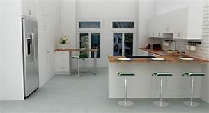 cuisine en l moderne avec ilot en 108 photos magnifiques With cuisine en l avec bar