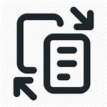 Paper Custom Transfer Data Icons Papers Service