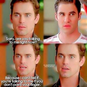 Funny moment from Glee guest star Matt Bomer | Mmm..Matt ...