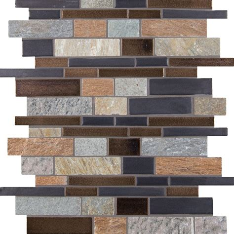 Home Depot Wall Tile Class by Ms International Cobrello Interlocking 12 In X 12 In X 8