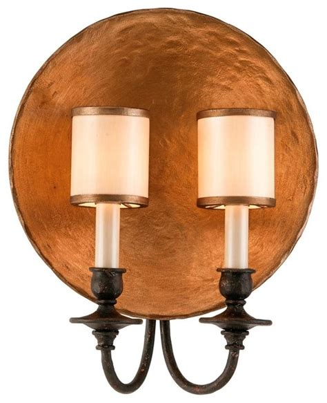 copper plate wall sconce wall sconces by shades of light