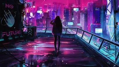 Cyberpunk Neon 4k Night Lights Aenami Streetwear