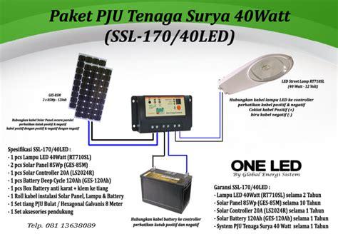 paket pju ts led solar cell pju tenaga surya led paket