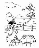 Hook Captain Coloring Pages sketch template