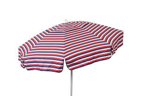 Destinationgear Euro 6ft Umbrella Tri Color Stripe Red